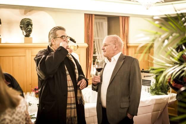Gemeindeammann von Wettingen Roland Kuster feiert im Restaurant Sternen in Wettingen seinen Wahlsieg.