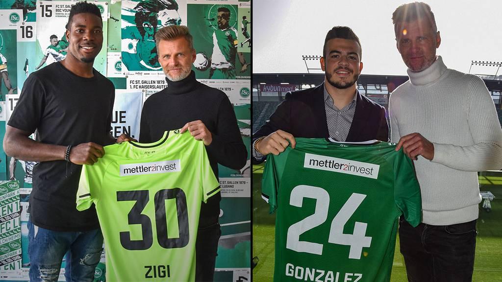 Zigi und González ab sofort beim FC St.Gallen