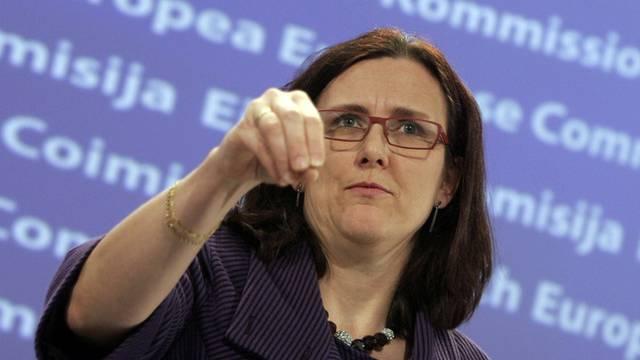 EU-Innenkommissarin Malmström konnte das positive Verhandlungsergebnis verkünden (Archiv)