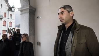 Johan Cosar gestern vor dem Prozess in Bellinzona.