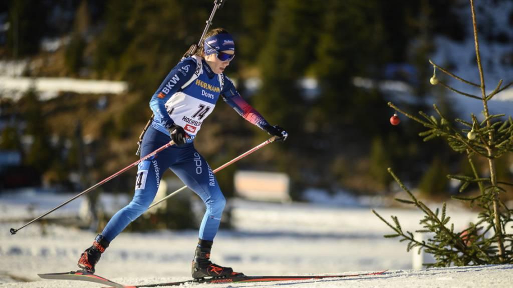 Bis zum letzten Schiessen auf Podestkurs: Nach vier Fehlern fiel Selina Gasparin noch aus den Punkterängen. (Archivbild)