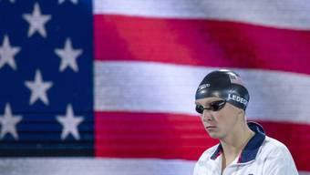 Die Amerikanerin Katie Ledecky unmittelbar vor ihrem ersten WM-Titel in Budapest