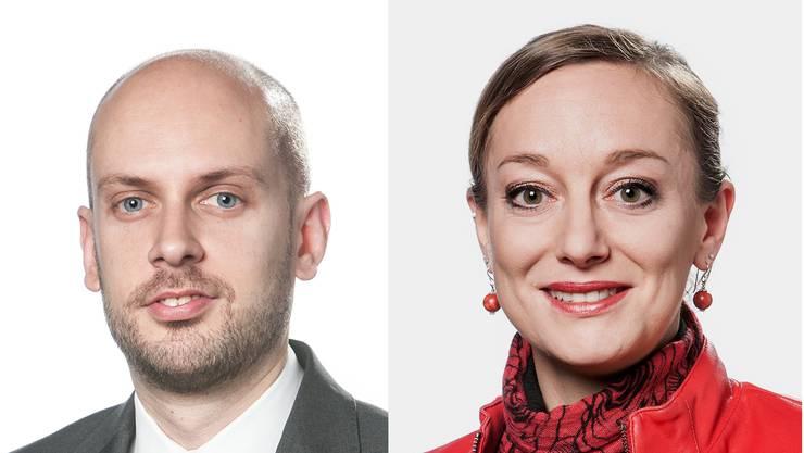 SVP-Grossrat Joël Thüring (Pro) und SP-Grossrätin Toya Krummenacher (Contra) legen die Argumente zu den längeren Ladenöffnungszeiten dar.