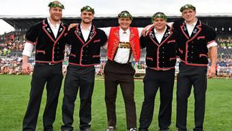 Die Nordwestschweizer Eidgenossen: Mario Thürig, David Schmid, Nick Alpiger, Patrick Räbmatter und Bruno Gisler (von links).