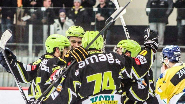 Die Spieler des EHC Bucheggberg durften sich zuletzt über einen Sieg freuen.
