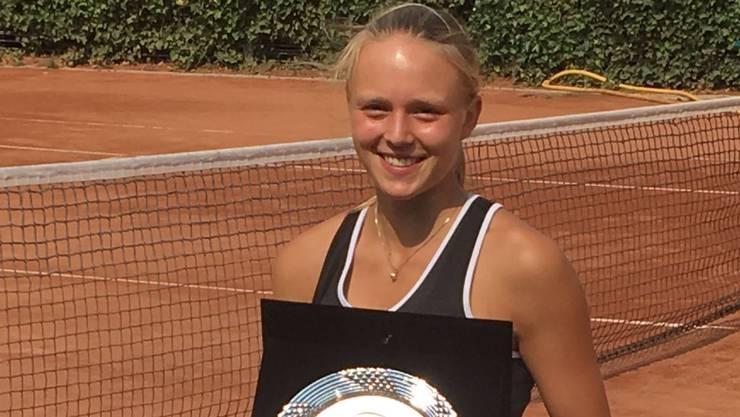Sophie Lüscher nach der Finalqualifikation in Rumänien