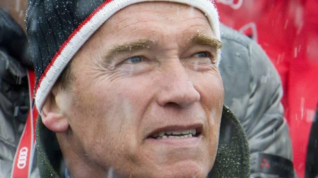Arnold Schwarzenegger 2012 beim Hahnenkamm (Archiv)