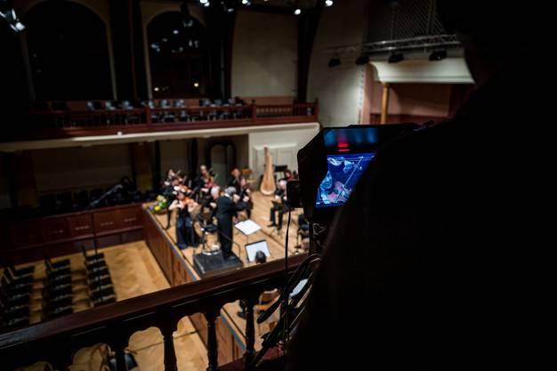 Das Konzert wird stattdessen von Kameras begleitet