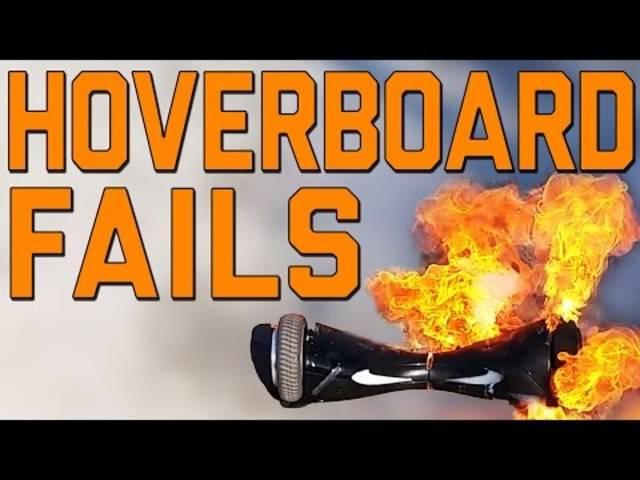 Das kann passieren, wenn man nicht genug vorsichtig ist: Fast 10 Minuten Hoverboard-Fails.