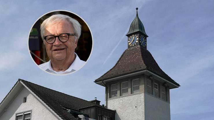 Hans Ulrich Mathys ist Sprecher der SVP Holziken, die sich mit einer Petition gegen die Abschaltung des nächtlichen Glockenschlags wehrt.