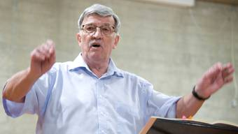 René Kunz anlässlich des Abschlusskonzerts der Leberberger Instrumentalisten.