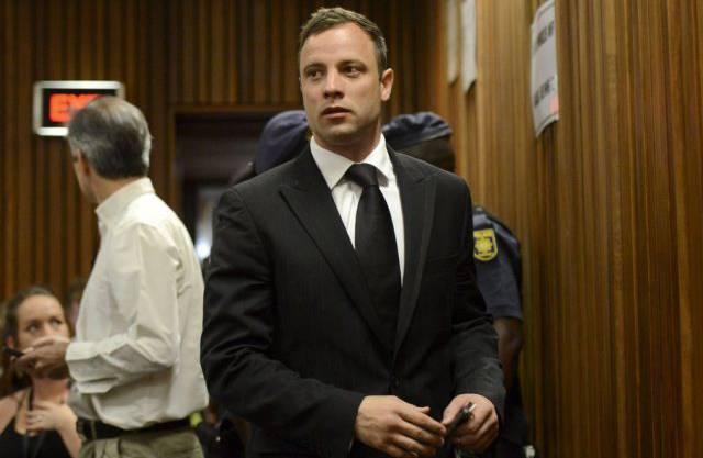 Oscar Pistorius bei seiner Ankunft im Gericht