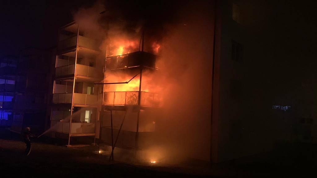 Mehrere Verletzte bei Feuer in einem Schaffhauser Wohnblock
