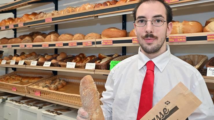 Sascha Saxer hat die Bäckerei zum Brothüsli in Starrkirch-Wil vor drei Jahren eröffnet.