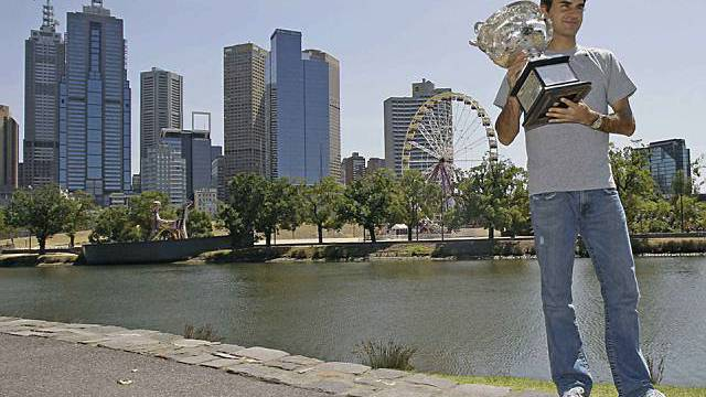 Champion Roger Federer (Archiv)