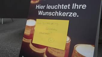 """Aktion """"Eine Million Sterne"""" der Caritas in Aarau musste abgesagt werden."""