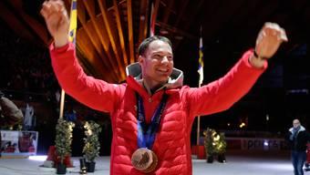 Grosser Empfang für Dario Cologna in seiner Heimat St. Moritz