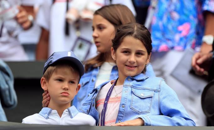 Die Kinder waren zwar nicht im Stadion, fieberten aber von Zuhause aus mit, wie Roger Federer nach dem Halbfinal-Sieg sagte.
