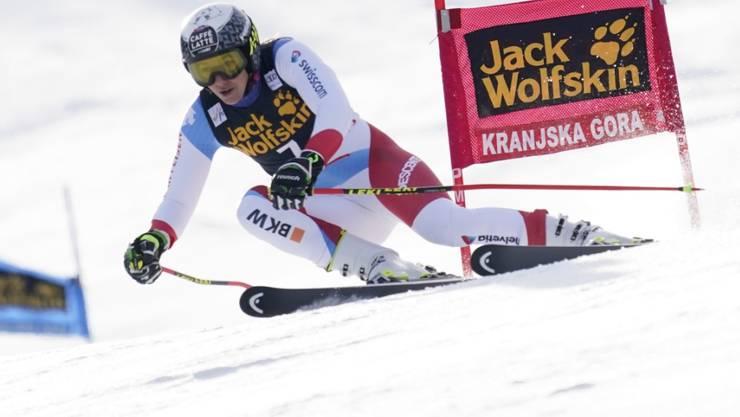 Wendy Holdener darf nach dem ersten Lauf des Riesenslaloms in Kranjska Gora auf einen Podestplatz hoffen