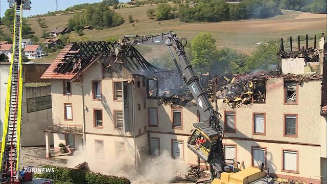 Grossbrand in Herznach: Angestellte wollte sich umbringen