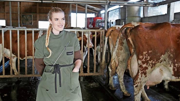 Die Besamungstechnikerin Anna Voggensperger ist sehr stolz auf ihren Beruf.