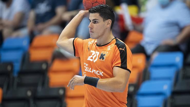 Luka Maros hatte mit neun Toren massgeblichen Anteil am Sieg von Kadetten Schaffhausen bei GC Amicitia Zürich