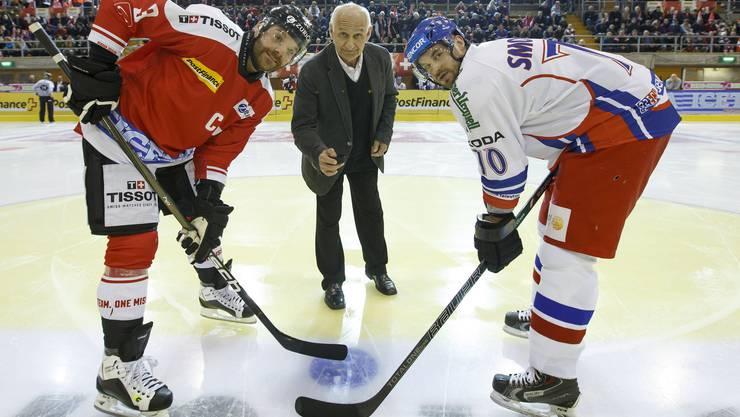 Ein Freundschaftsspiel war es: Julien Vauclair (links) und der Tscheche Paul-Andre Cadieux.
