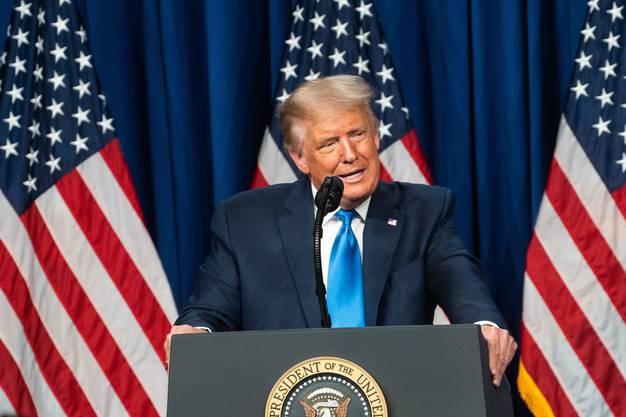 Der fünffache Familienvater und aktuelle US-Präsident Donald Trump wird heute Abend seinen Auftritt haben.