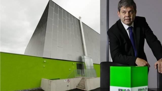 Green-Datencenter in Lupfig und CEO Franz Grüter
