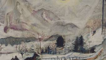 """Das Gemälde """"Dent's du Midi"""" (1910) ist vom 14. Dezember 2018 bis 10. März 2019 im Kunsthaus Zürich in der Ausstellung """"Okskar Kokoschka. Eine Retrospektive"""" zu sehen."""