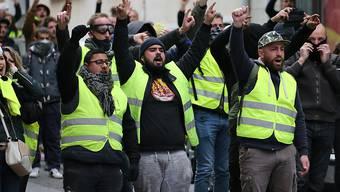 """Die französischen """"Gelbwesten"""" sind am Samstag erneut auf die Strasse gegangen. (Archivbild)"""