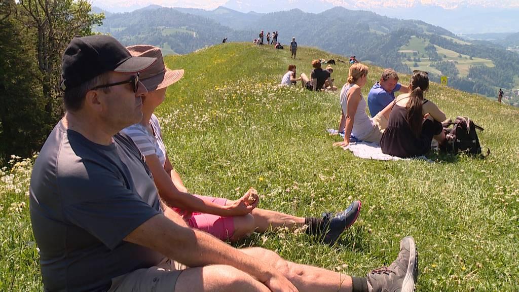 Corona-Pause in den Bergen: Viele Wanderer auf dem Hörnli