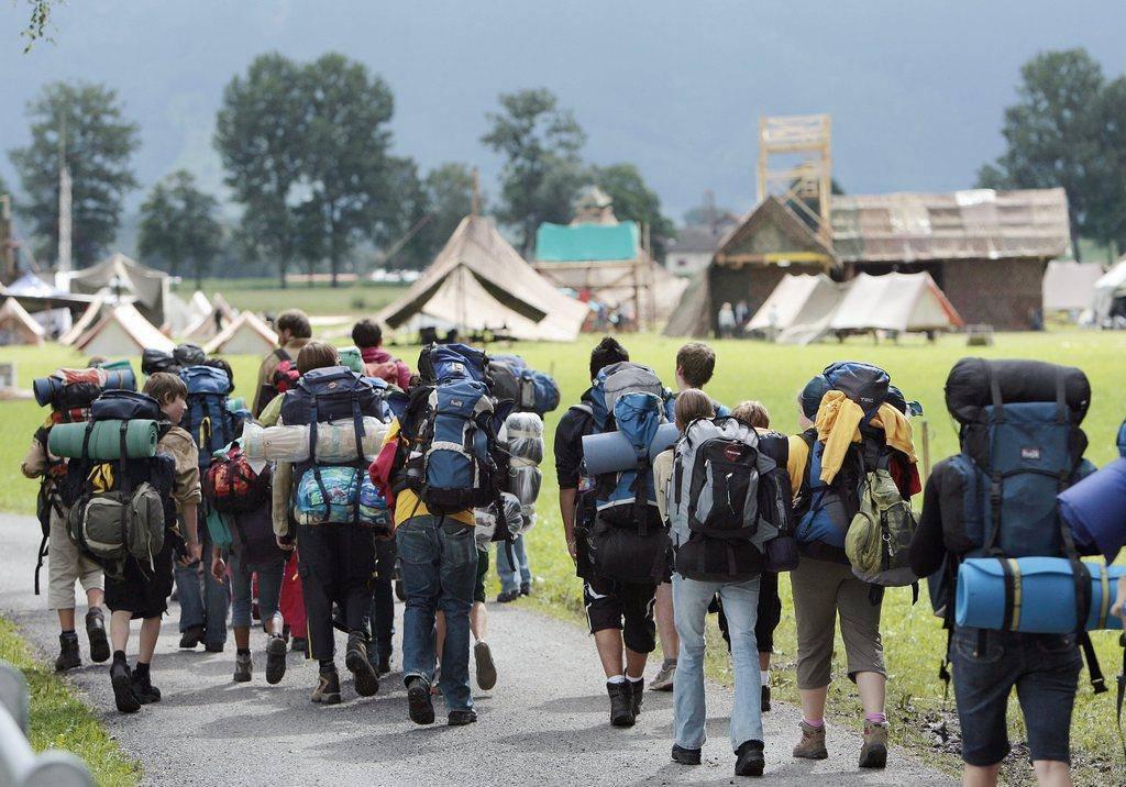 Bundeslager «Contura» im Jahr 2008 (© Keystone)