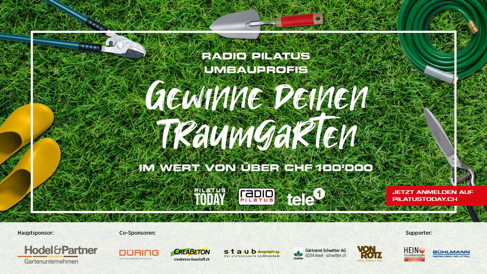 Radio Pilatus Umbauprofis Garten 2021