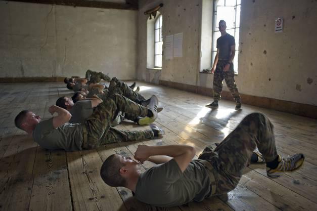 Ausbildung von Rekruten.