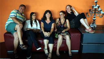 Die Dampfschiff-Crew: Alex Simmen, Sarah Chaksad, Rena Kempe, Sandra Brunner und Irene Simmen (PR-Verantwortliche).