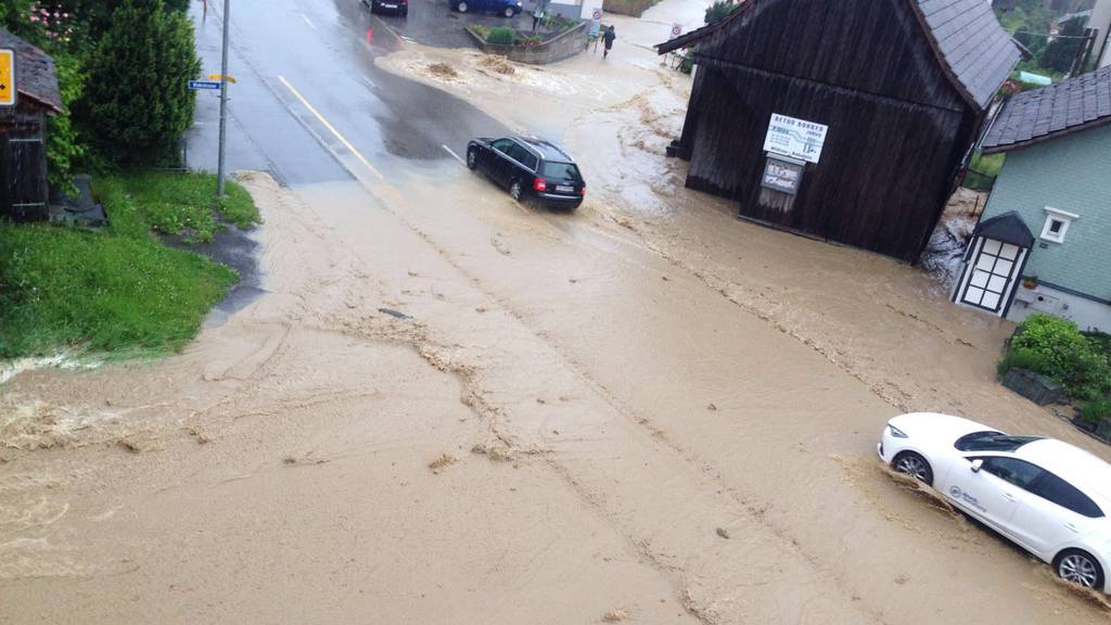 Lüchingen hatte mit riesigen Regenmengen zu kämpfen.