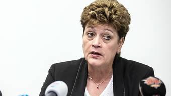 Kritik von fast allen Parteien: Silvia Steiner an einer Pressekonferenz in Zürich.