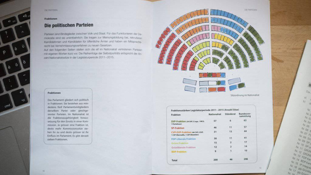 In der Broschüre «Wahlanleitung für die Nationalratswahlen» ist eine absolute Gleichbehandlung aller antretenden Parteien in den Augen des Bundesgerichts nicht möglich. (Archivbild)