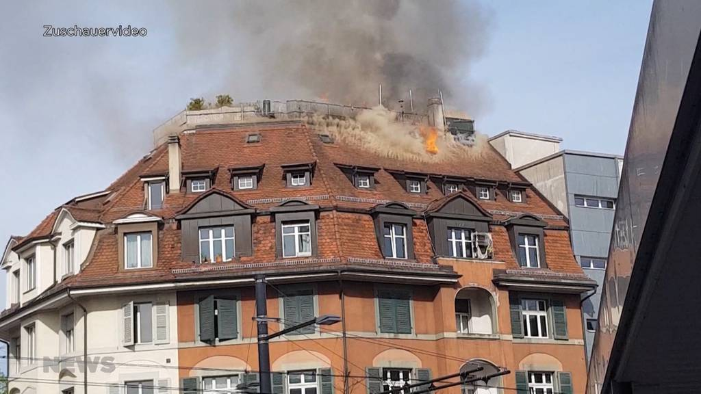 Flammeninferno am Eigerplatz