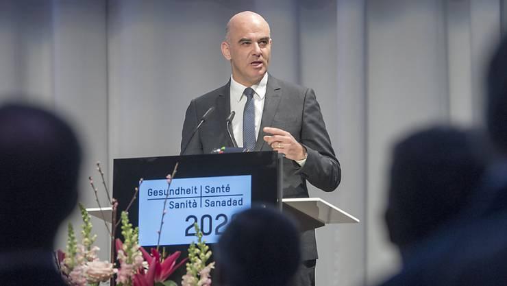 Bundesrat Alain Berset an der Nationalen Konferenz Gesundheit 2020.