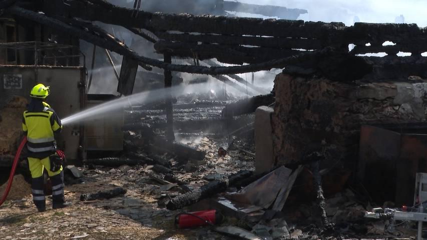 Alp-Restaurant Seeberg komplett niedergebrannt