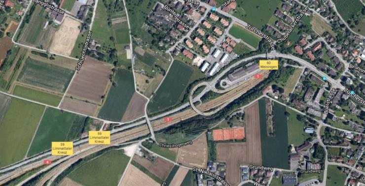 In Weiningen, nahe der Umfahrungsstrasse, wurde der Tote gefunden.