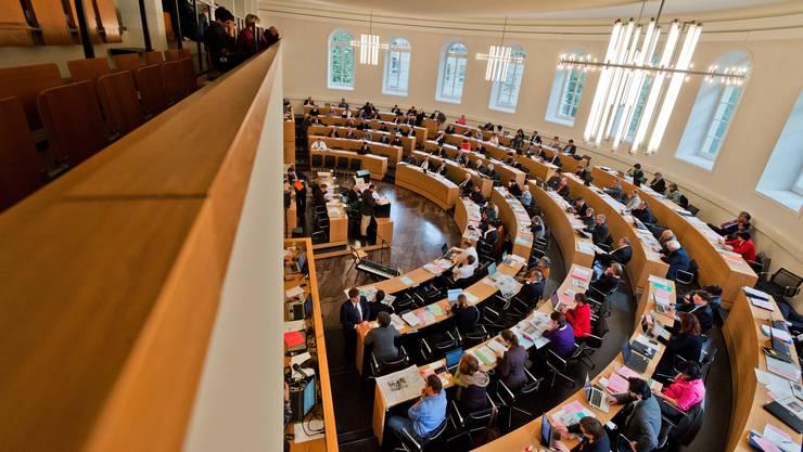 Eine Sitzung des Grossen Rats in Aarau. (Archivbild)
