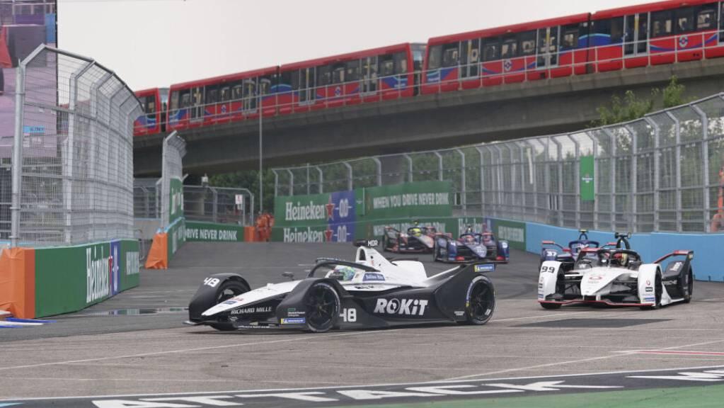 Edoardo Mortara (vorne) beim Formel-E-Rennen im Juli in London