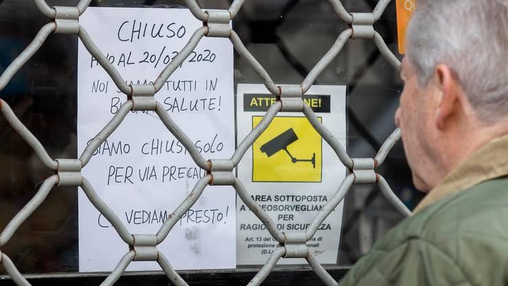 Laden geschlossen: Italien riegelt sich ab.