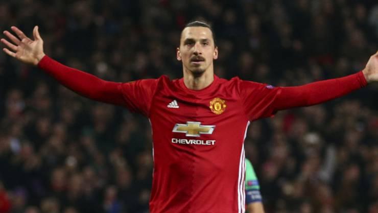 In dieser Pose will sich Zlatan Ibrahimovic den United-Fans auch in der neuen Saison wieder präsentieren