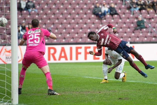 Servette - FCZ: Koro Koné bringt die Genfer 2:1 in Führung.