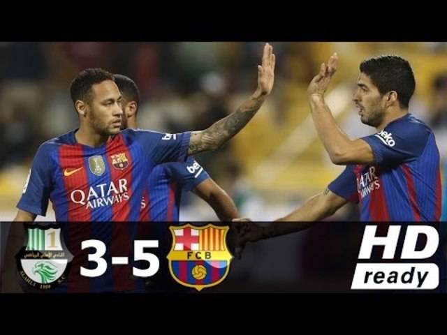 Al-Ahli vs Barcelona 3-5 - All Goals & Extended Highlights - Friendly 13/12/2016 HD