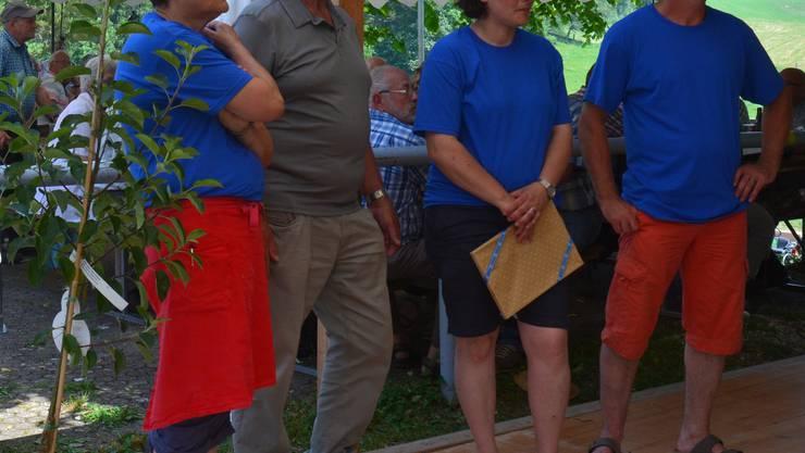 von links nach rechts: Margrit und Emil Heer, Sibylle und Remo Schmid